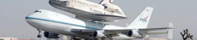 транспортировка Discovery на Boeing 747